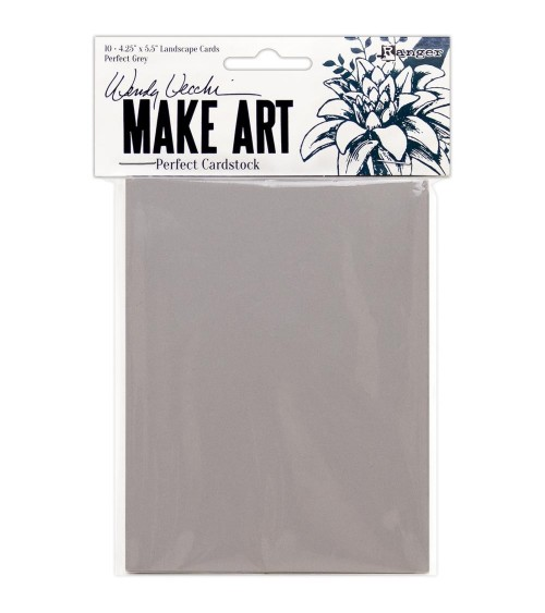 Ranger - Wendy Vecchi Make Art - Perfect Cardstock Grey Cards