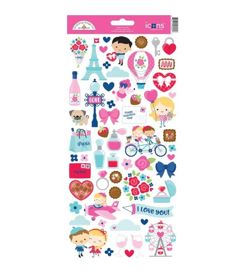 Doodlebug - French Kiss - Icons Stickers