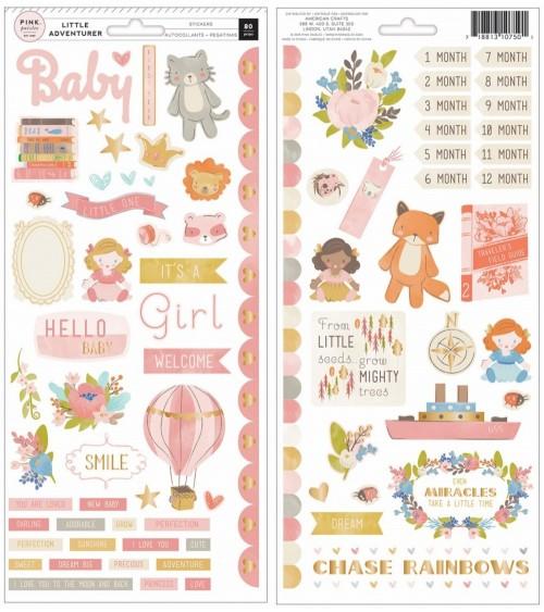 Pink Paislee - Little Adventurer - Girl Icons & Accents Sticker