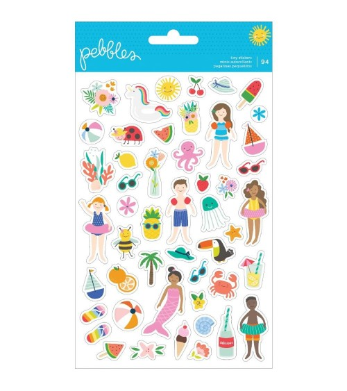 Pebbles - Oh Summertime - Clear Mini Stickers