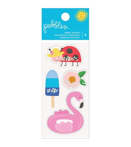 Pebbles - Oh Summertime - Inflated Shaker Stickers