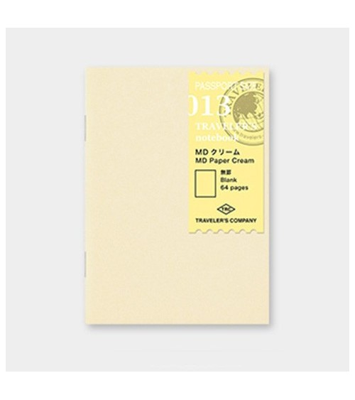 Midori - Traveler's Notebook - Passport Size 013 Cream Refill