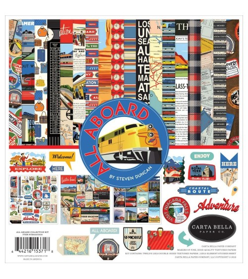 Carta Bella - All Aboard - Collection Kit
