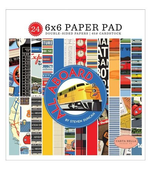 """Carta Bella - All Aboard - 6x6"""" Paper Pad"""