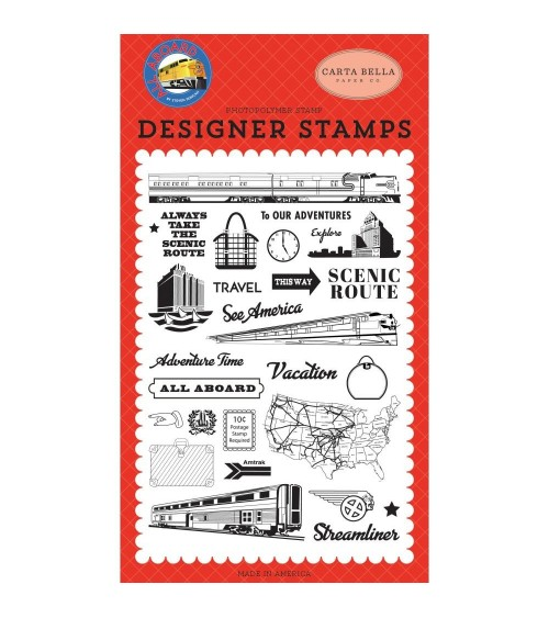 Carta Bella - All Aboard - Clear Stamp To Our Adventures