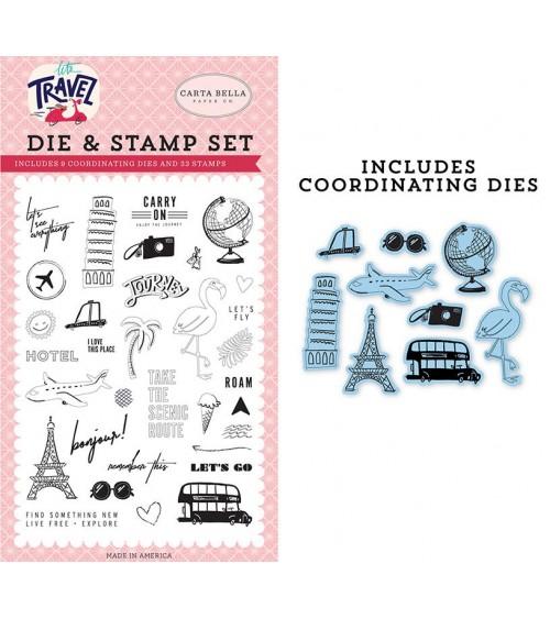 Carta Bella Paper - Let's Travel - Die&Stamp Set Let's Go