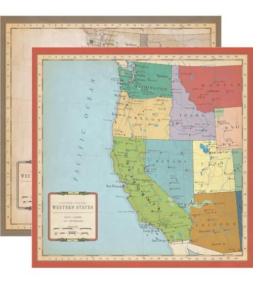 Carta Bella - Cartography No.1 - US West Coast