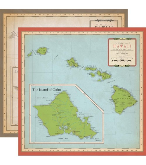 Carta Bella - Cartography No.1 - Hawaii Map