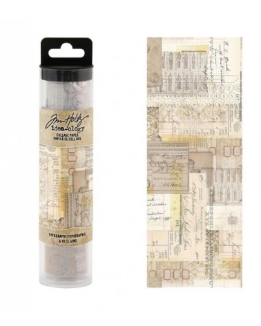 Tim Holtz - Collage Paper Roll - Typography