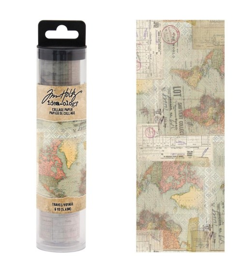 Tim Holtz - Collage Paper Roll - Travel