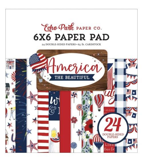 "Echo Park - America The Beautiful - 6x6"" Paper Pad"