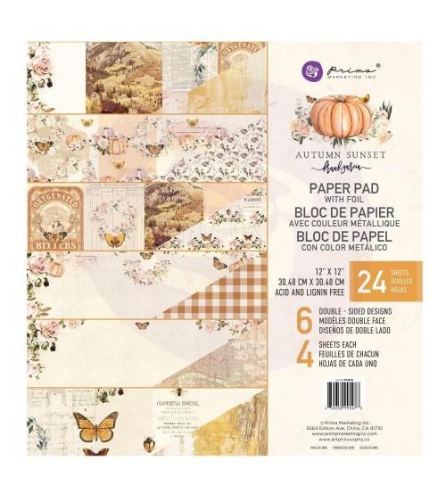 """Prima - Autumn Sunset - 12x12"""" Paper Pad"""