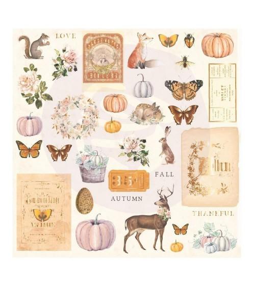 Prima - Autumn Sunset - Ephemera Cardstock Die-Cuts - Set 1