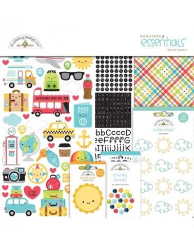 Doodlebug - I Heart Travel - Essentials Page Kit