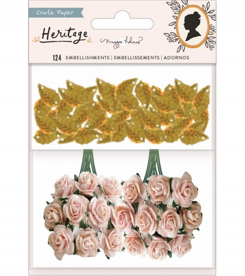 Crate - Maggie Holmes Heritage - Paper Flowers & Leaf Sequins