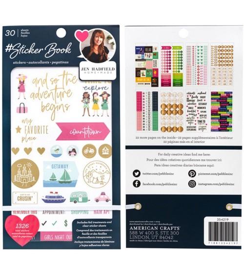 AC - Designer  Sticker Book Gold Foil - Pebbles Jen Hadfield