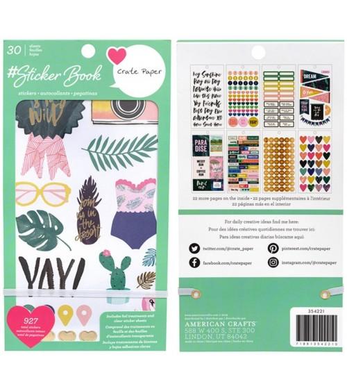 AC - Designer  Sticker Book Gold Foil - Crate Paper