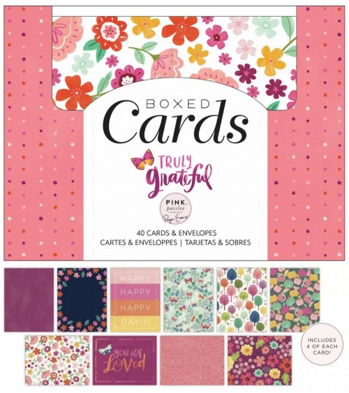 Pink Paislee - Paige Evans Truly Grateful - Boxed Cards + Envelo