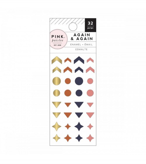 Pink Paislee - Again & Again - Enamel Dots & Shapes