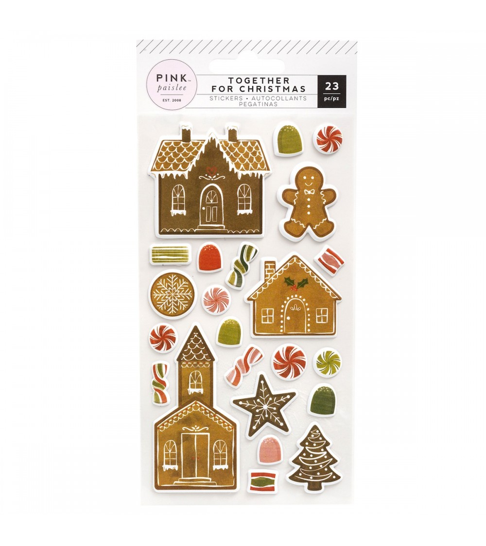 Pink Paislee - Together For Christmas - Puffy Sticker