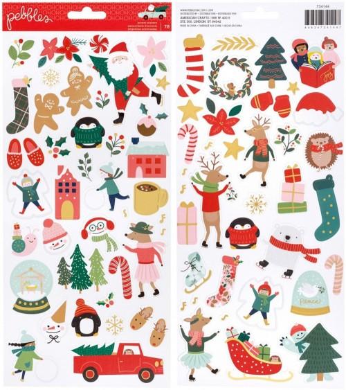 "Pebbles - Merry Little Christmas - 6x12"" Accent Sticker"