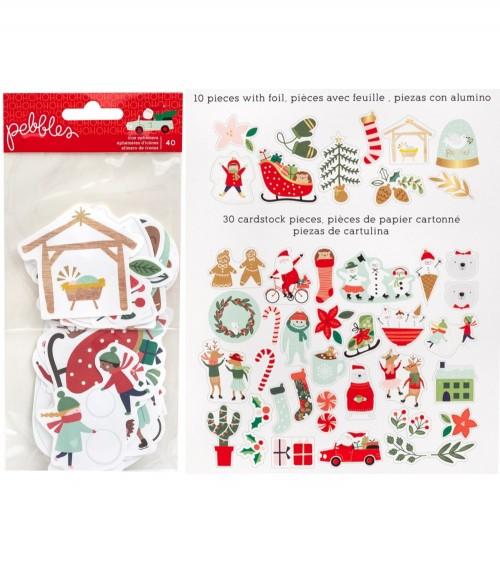 Pebbles - Merry Little Christmas - Icon Ephemera Pack
