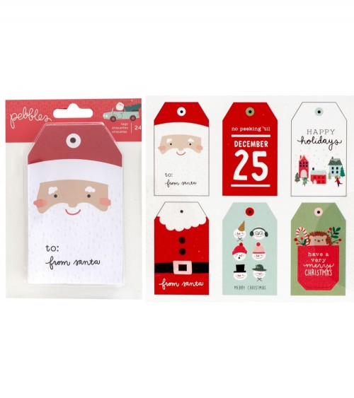 Pebbles - Merry Little Christmas - Cardstock Tag Pad