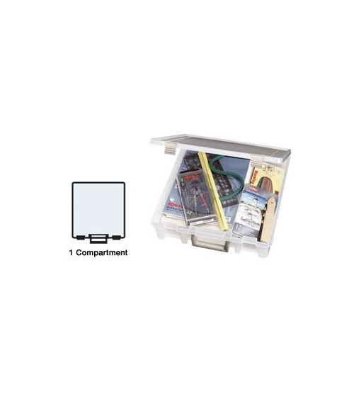 "ArtBin - Super Satchel Deep One Compartment Box f.12x12"" clear"