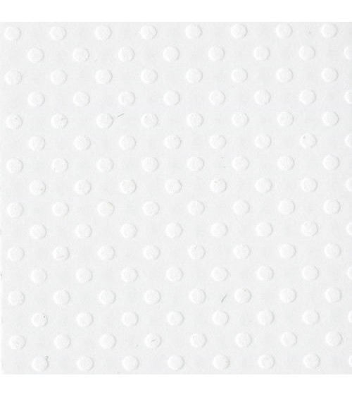 "Bazzill Cardstock Dotted Swiss Salt 12x12"""